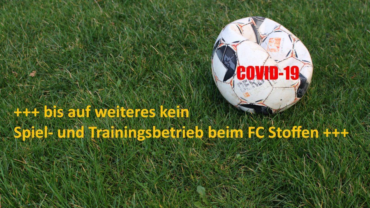 COVID-19: Der Fußball ruht!